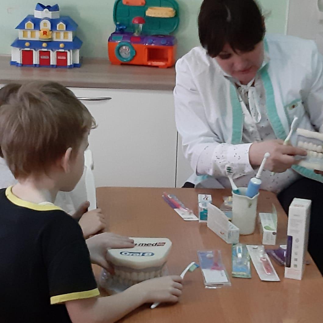 Урок гигиены в Областной детской больнице